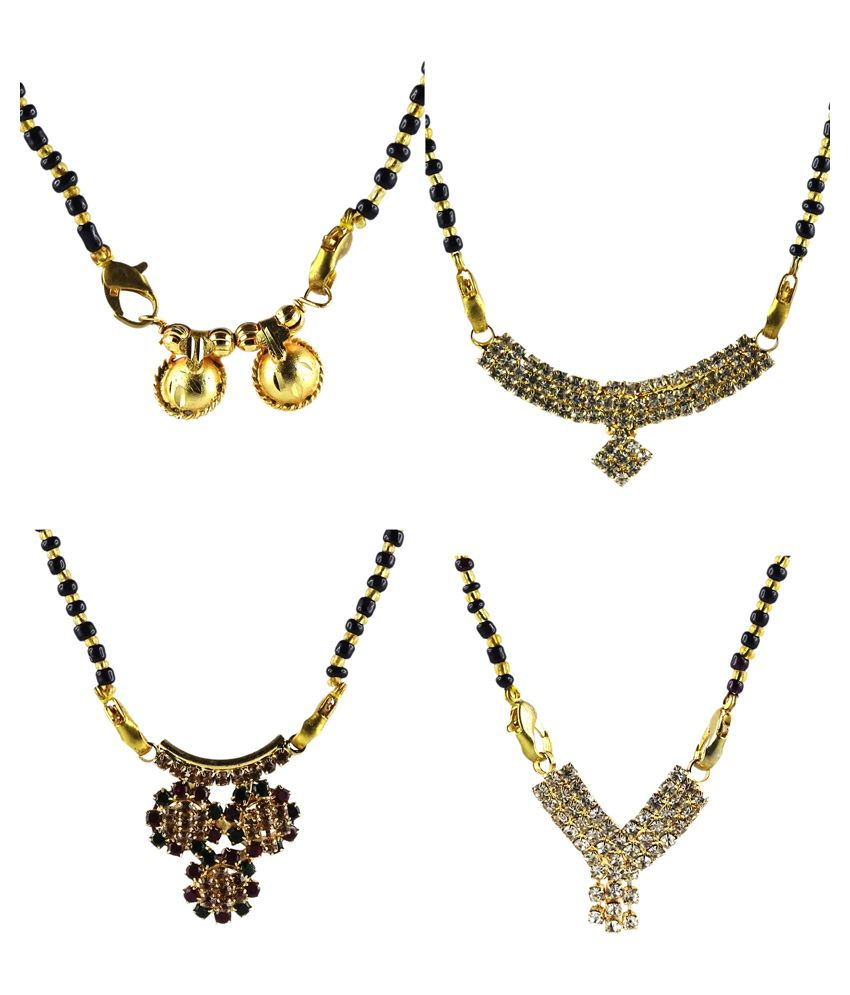 Fluck Golden Mangalsutra - Set of 4