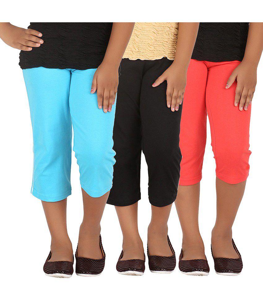 Minnow Multicolour Capris - Pack of 3