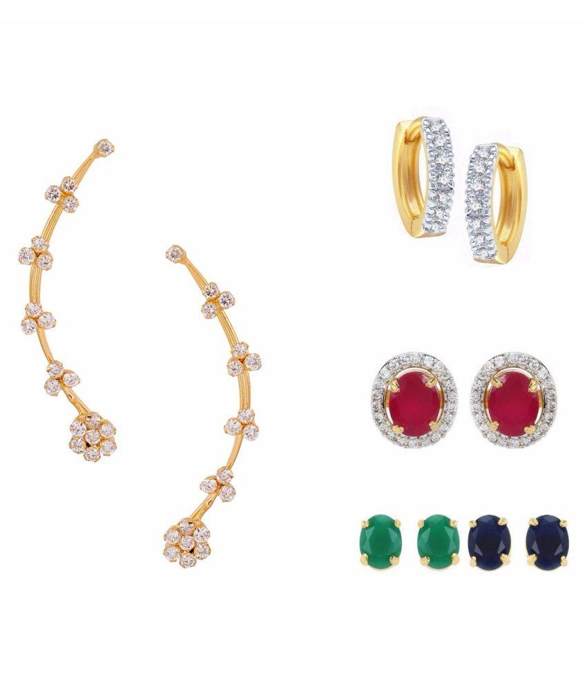 Efulgenz Multicolor Earrings - Pair of 3