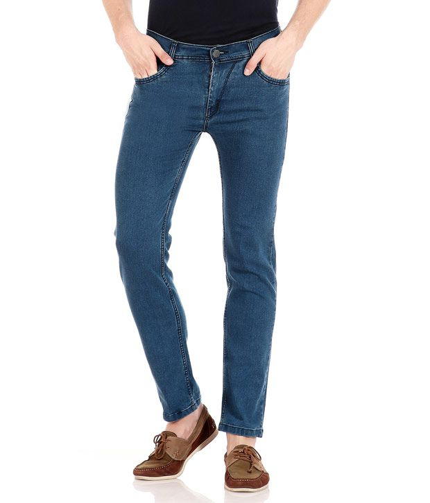 Flyjohn Men's Cool Blue Jeans