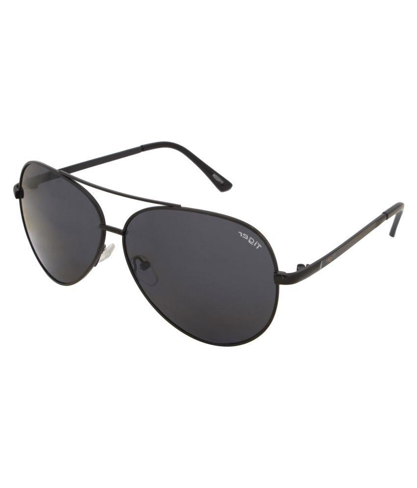 Tiger Eyewear Black Aviator Sunglasses ( 115224-b )