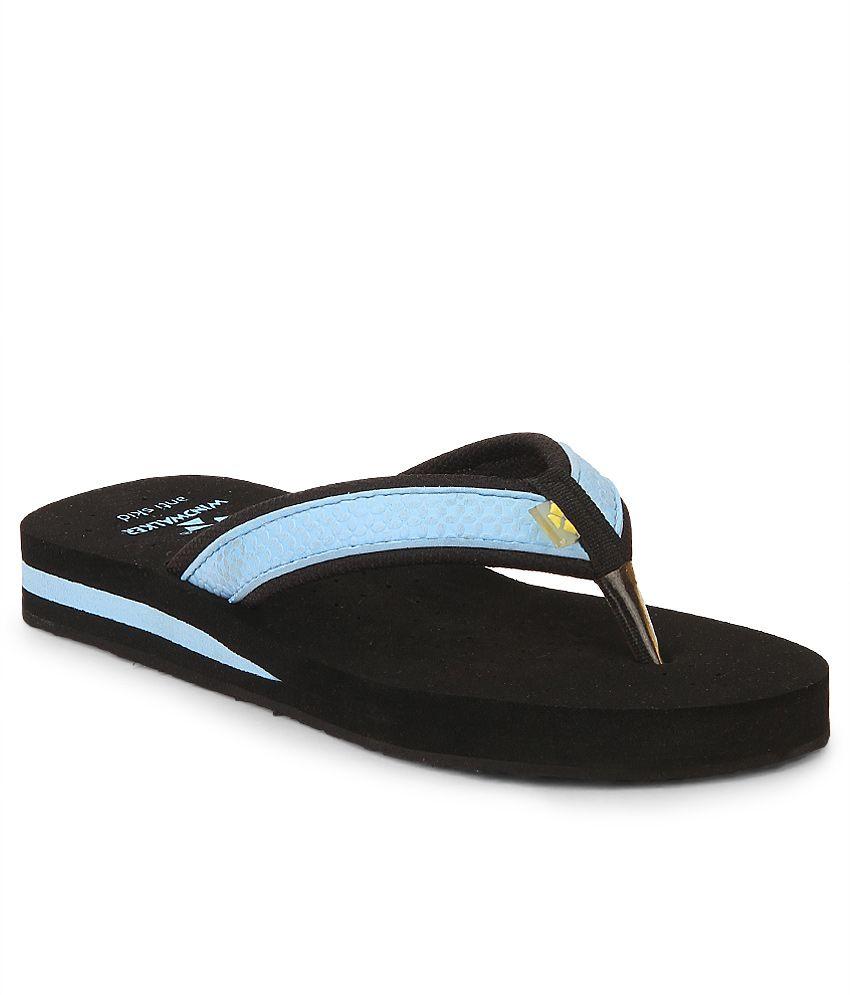 Windwalker Kawai Blue & Black Flip Flops