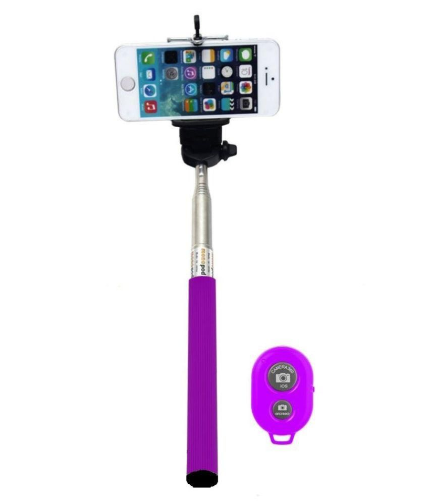 konarrk assorted colors selfie stick with bluetooth remote selfie sticks a. Black Bedroom Furniture Sets. Home Design Ideas