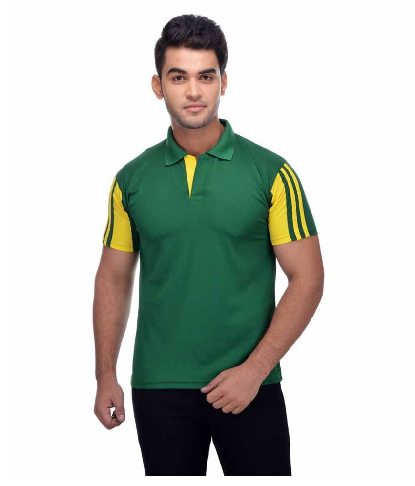 MARTYRS Green Cotton Blend Polo T-shirt Single Pack