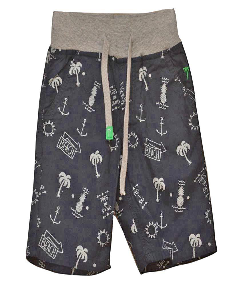 Titrit Black Denim Shorts