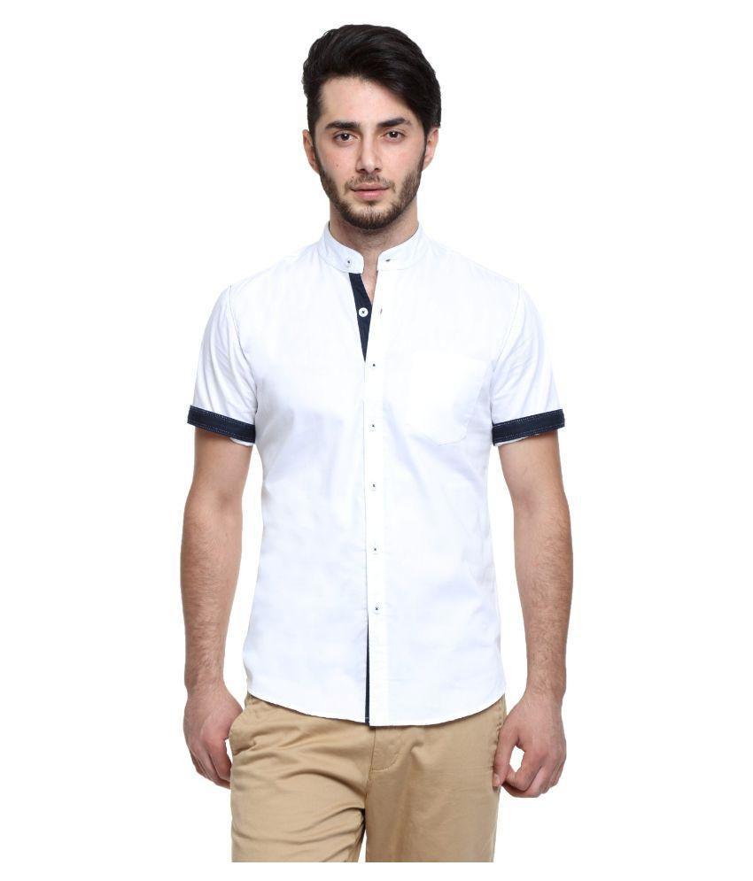 Wajbee White Casuals Slim Fit Shirt
