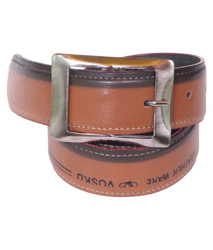 SanDisk Brown Faux Leather Casual Belts