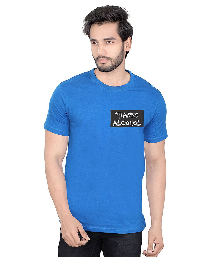 LUCfashion Blue Round T-Shirt