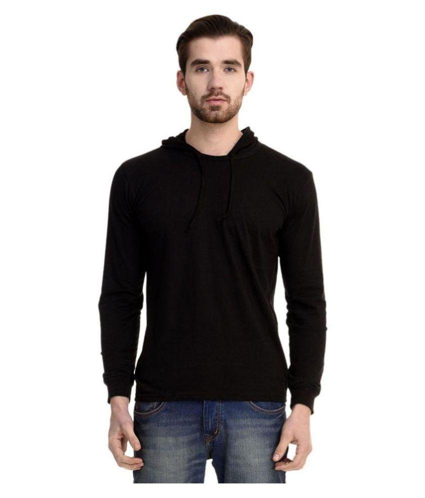 Mimoda Black Hooded T-Shirt