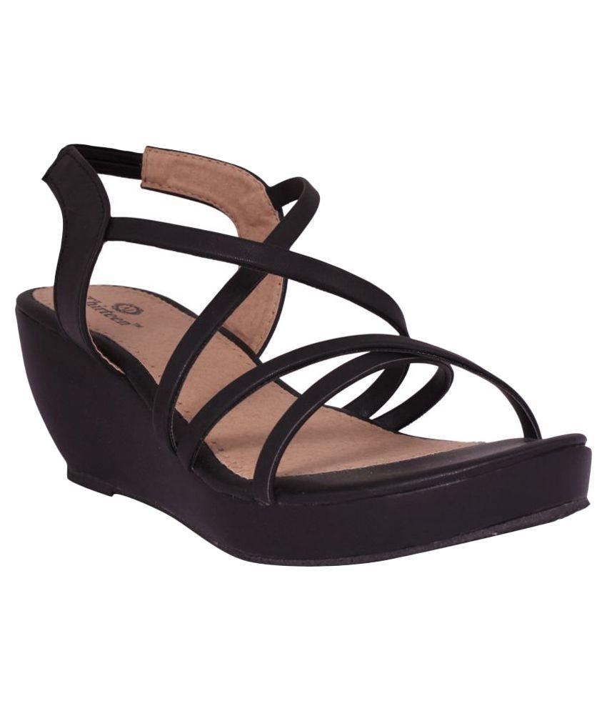 Thirteen Black Wedges Heels