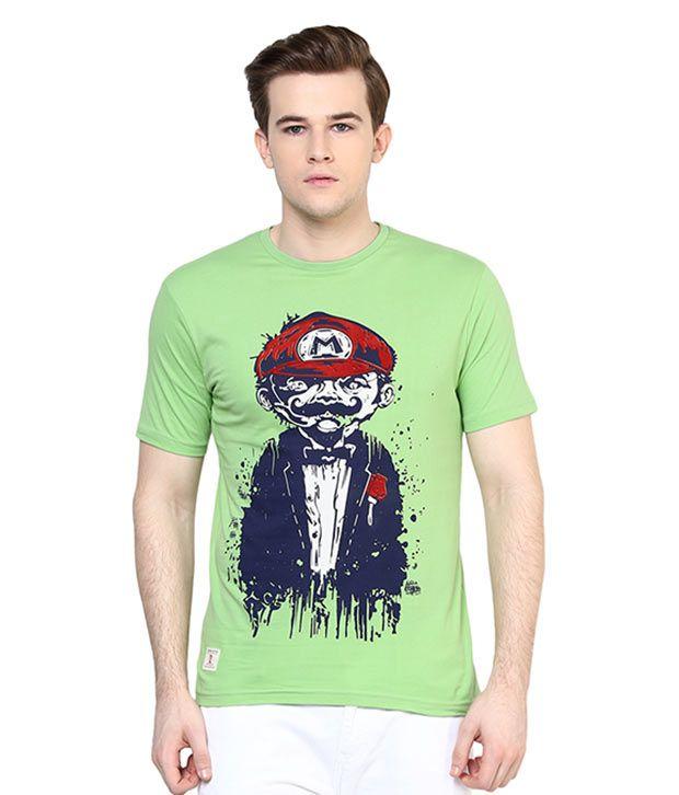 Ziera Green Round T-Shirt
