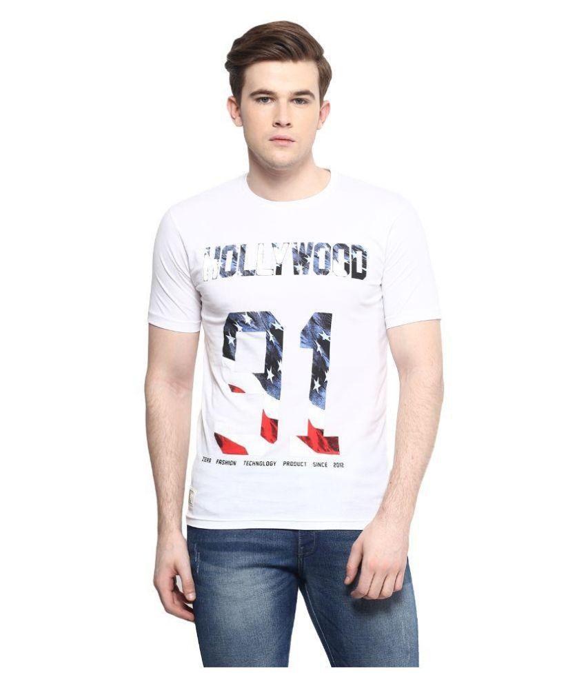 Ziera White Round T-Shirt