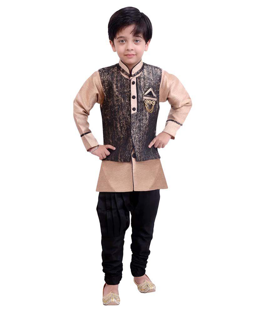 Arshia Fashions Beige Cotton Indo Western