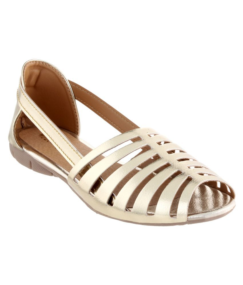 Feetzone Gold Flats