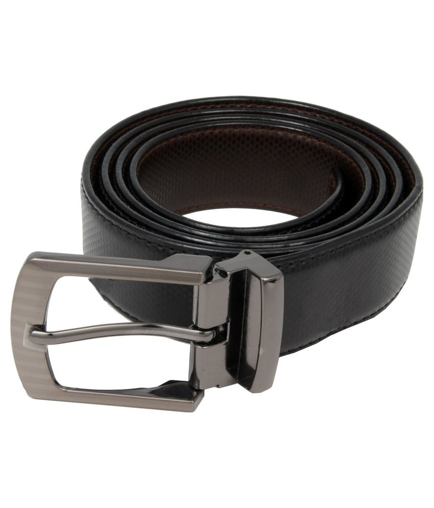 Woap Black Leather Casual Belts