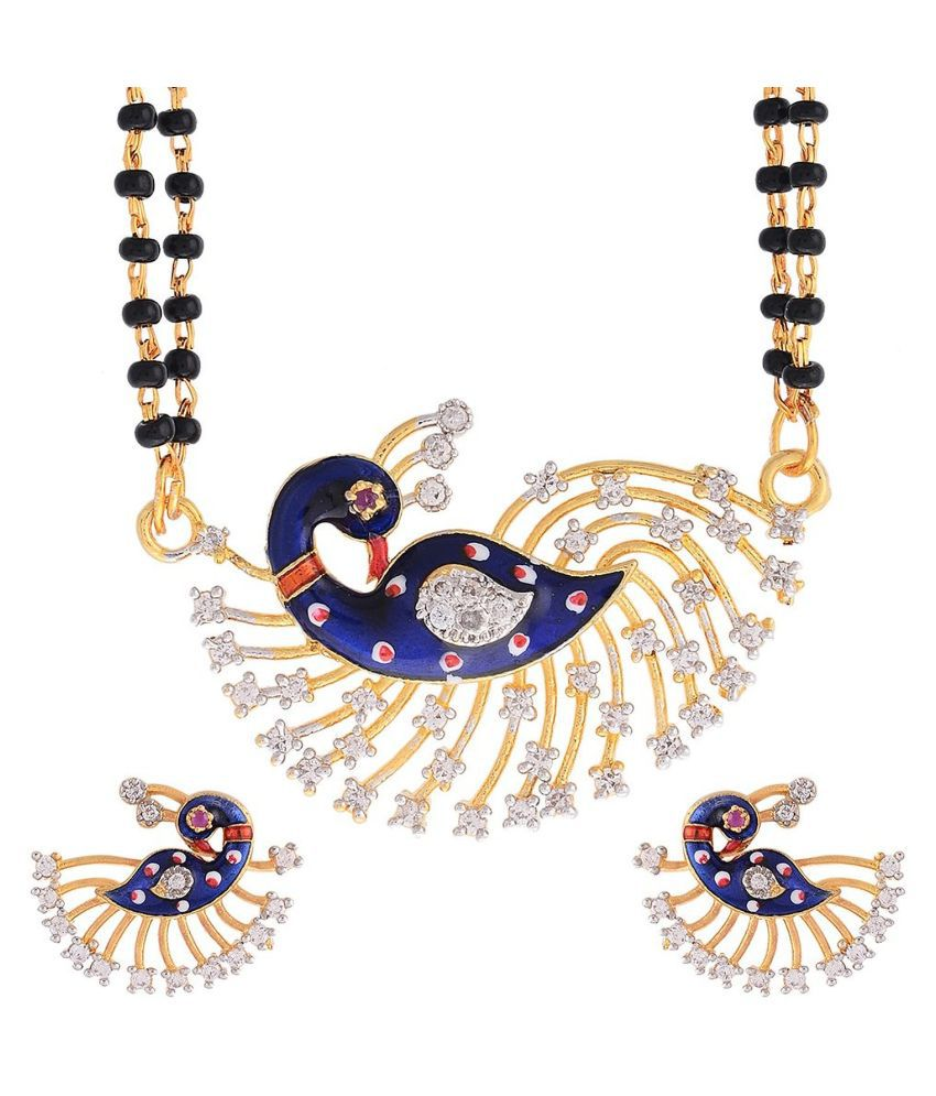 Awww Golden Mangalsutra Set