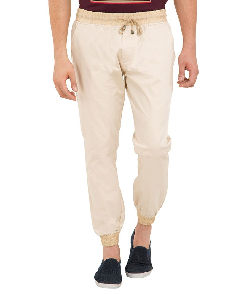 Locomotive Beige Slim Fit Jogger Pants