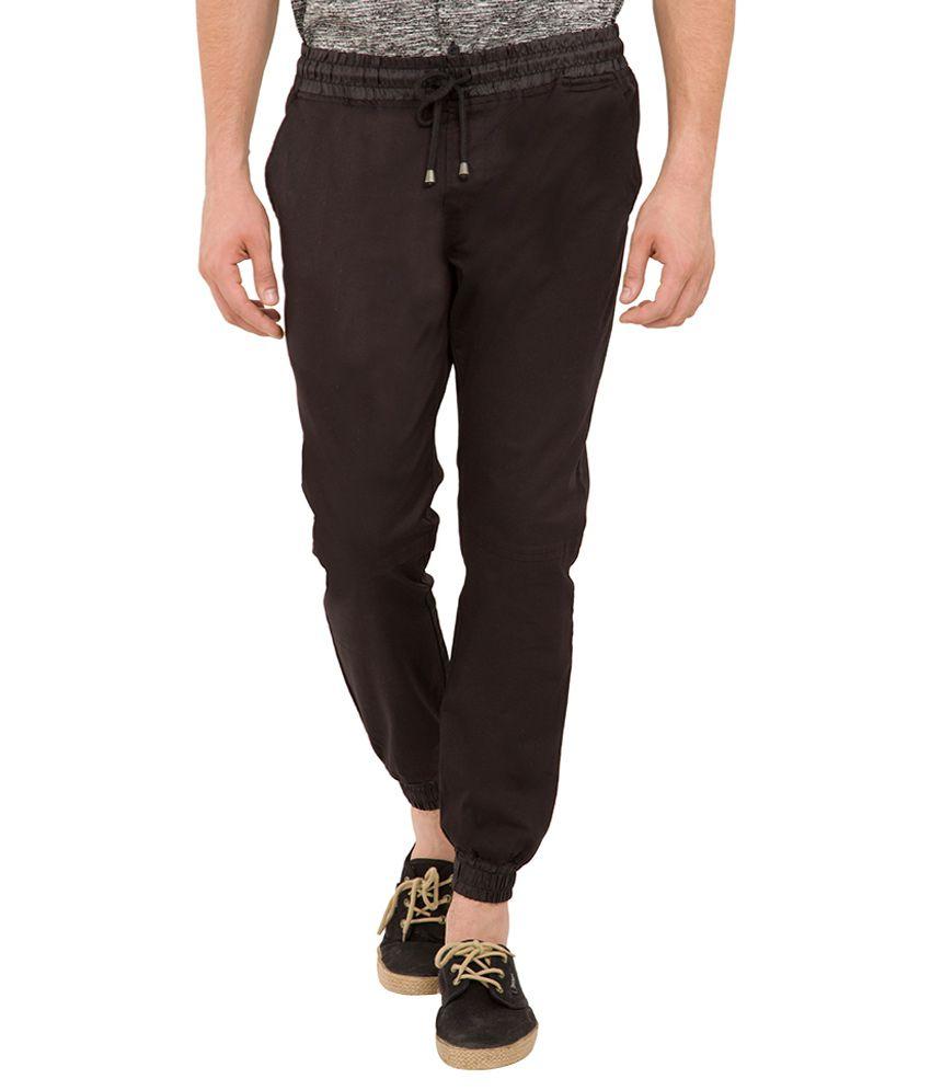 Locomotive Black Slim Fit Jogger Pants