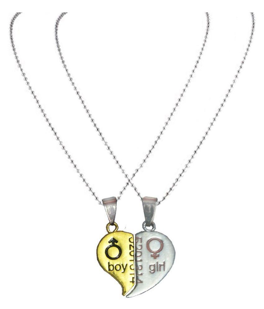 Men Style Silver and Golden Alloy Pendant