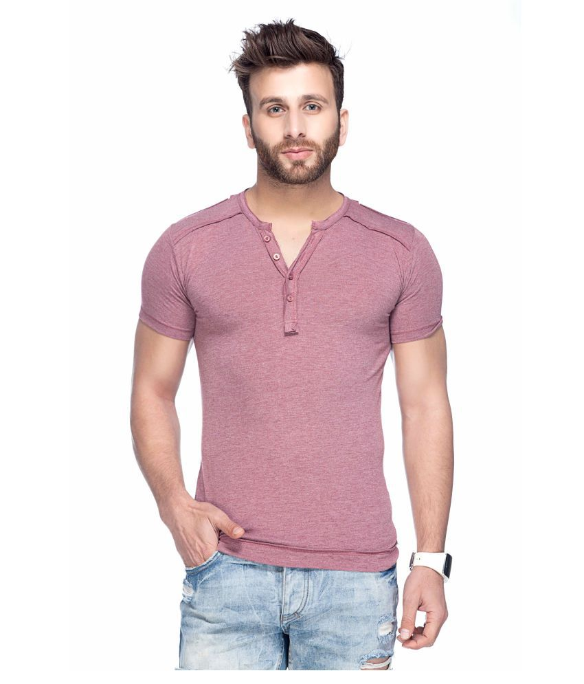 Tinted Pink Henley T-Shirt