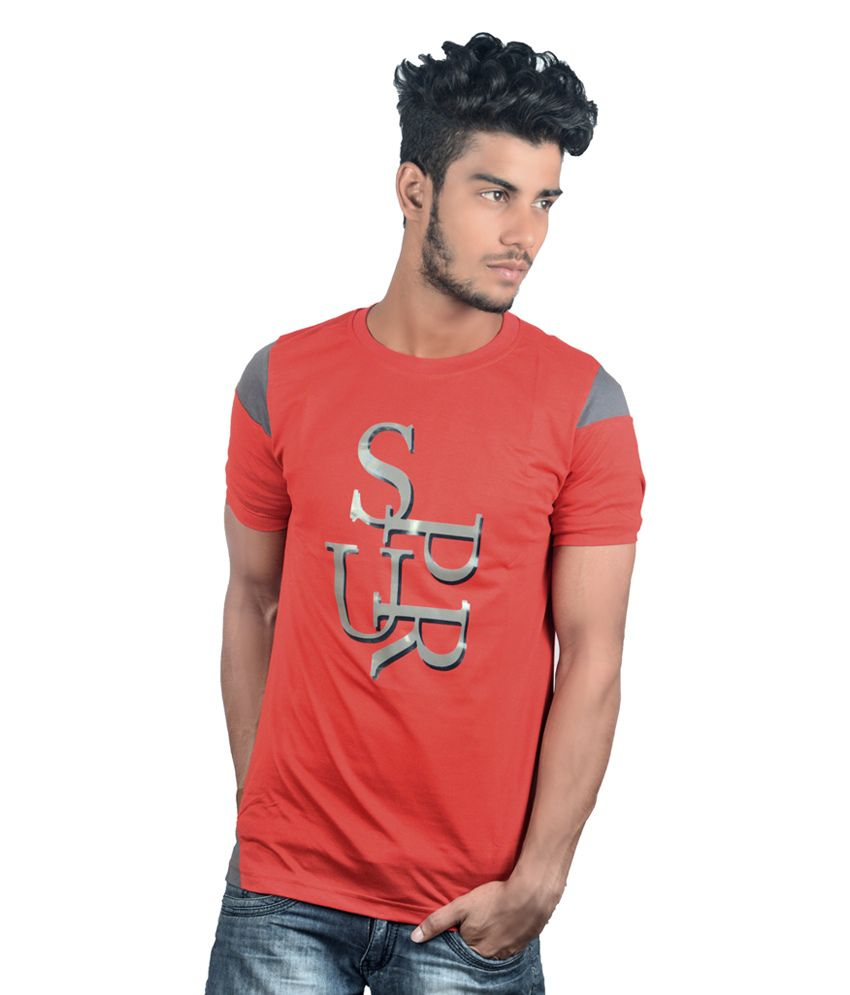 Spur Red Round T-Shirt