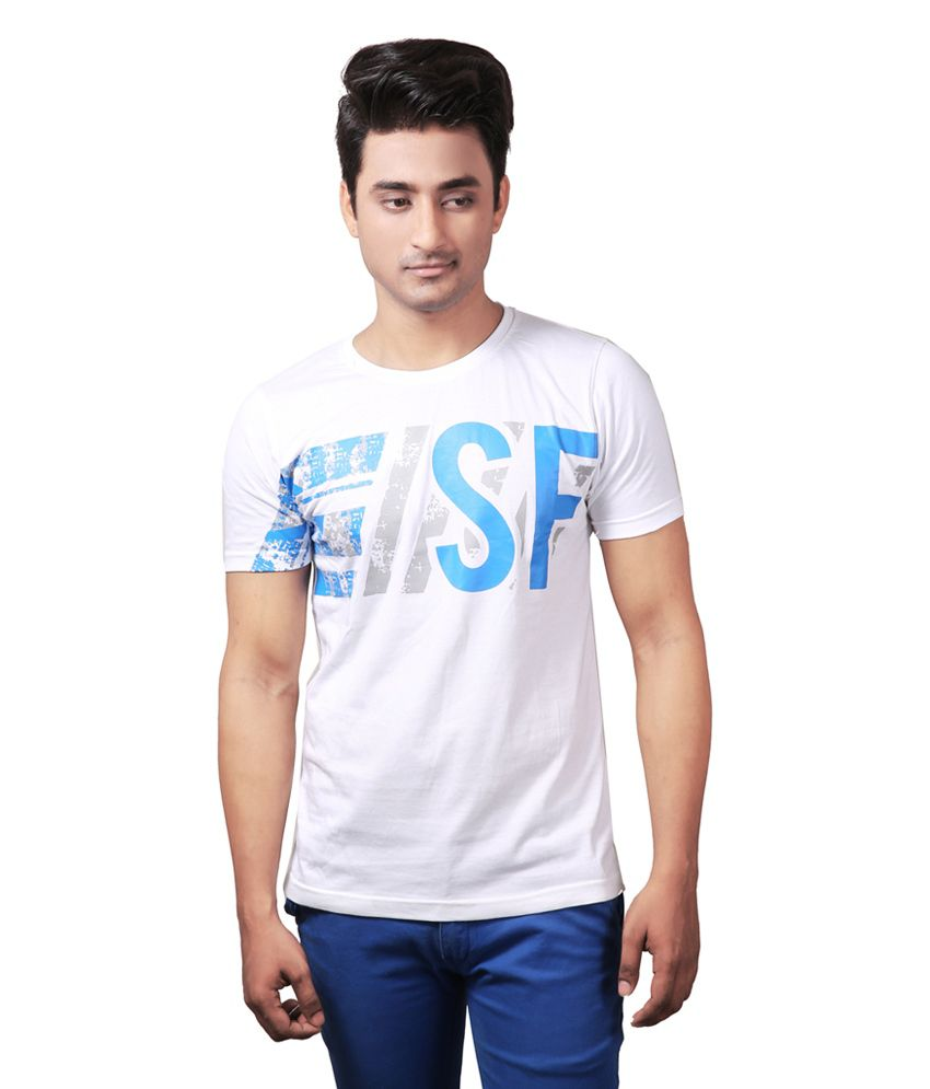 Spur White Round T-Shirt