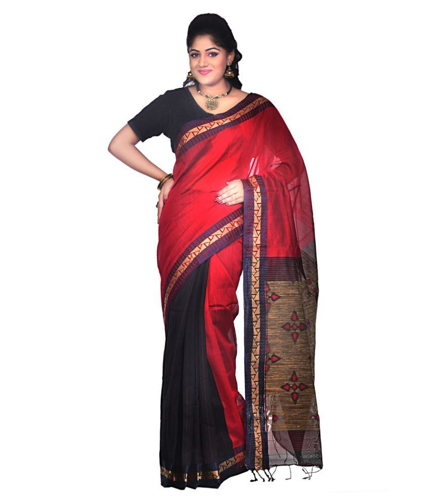 Bengal Handloom Saree Multicoloured Cotton Silk Saree