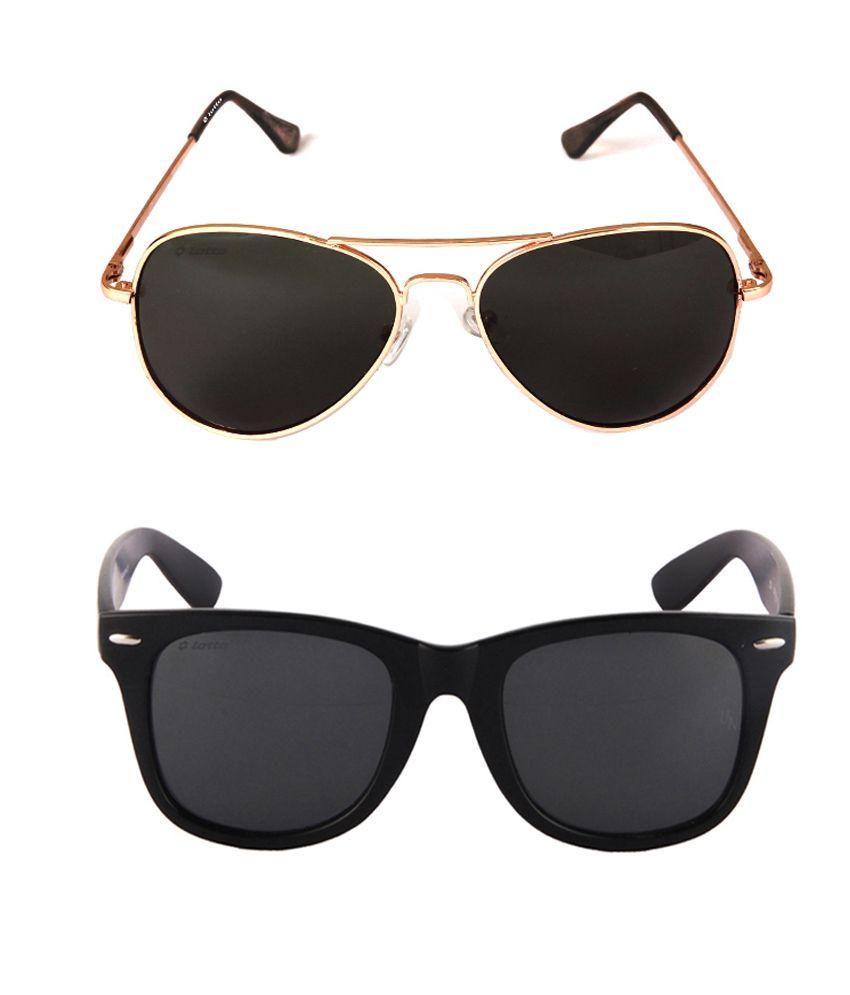 Lotto Silver Aviator Sunglasses ( LottoCombo )