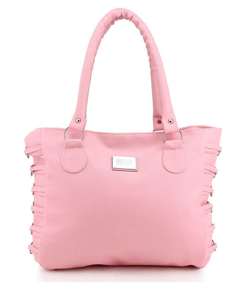Cottage Accessories Pink Canvas Shoulder Bag