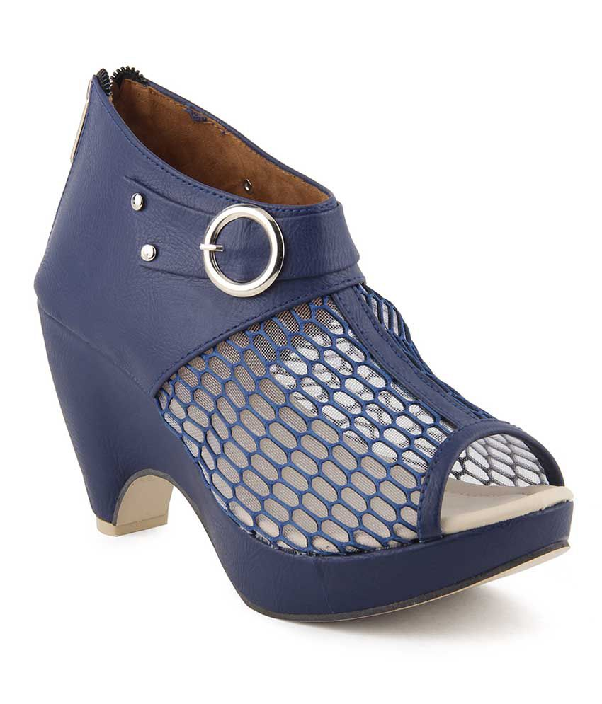 9a30eb79b Cute Fashion Blue Block Heels Price in India- Buy Cute Fashion Blue Block  Heels Online at Snapdeal