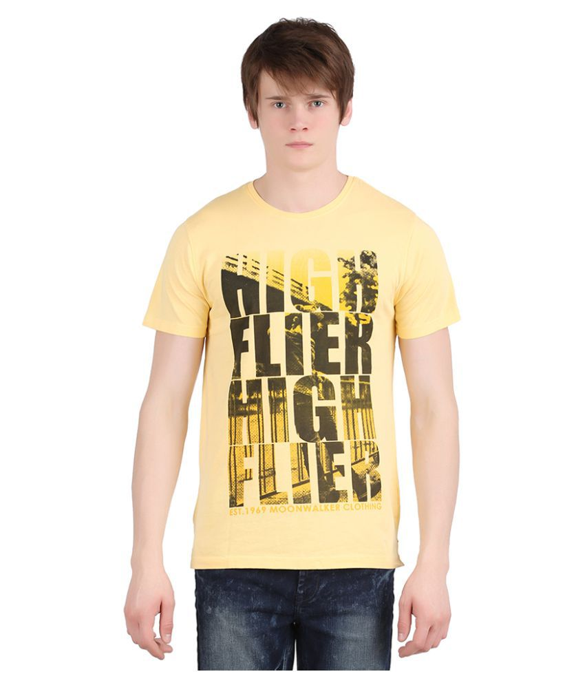 Moonwalker Yellow Round T-Shirt