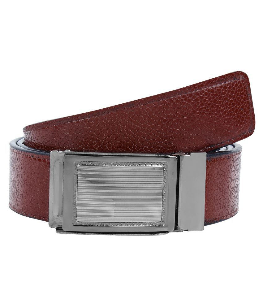 Oricum Brown Faux Leather Belt for Men