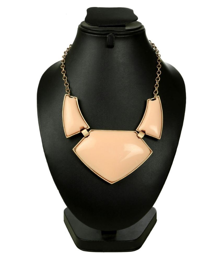 Outdazzle Beige Alloy Necklace