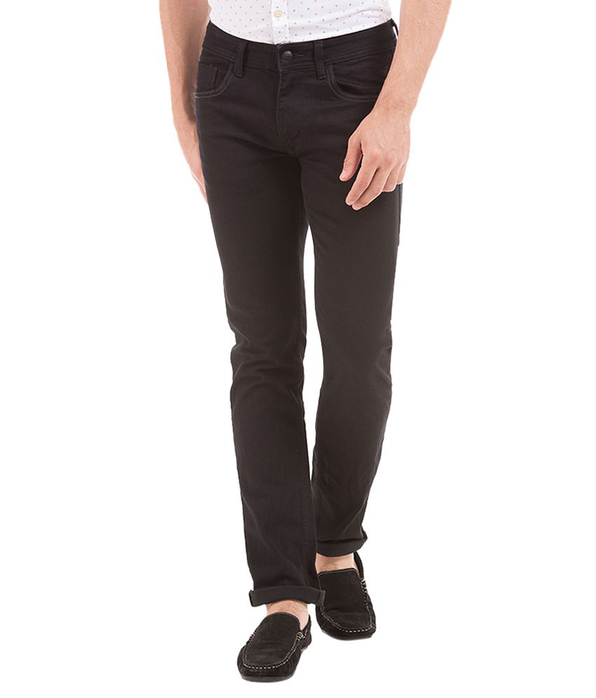 Flying Machine Black Slim Fit Jeans