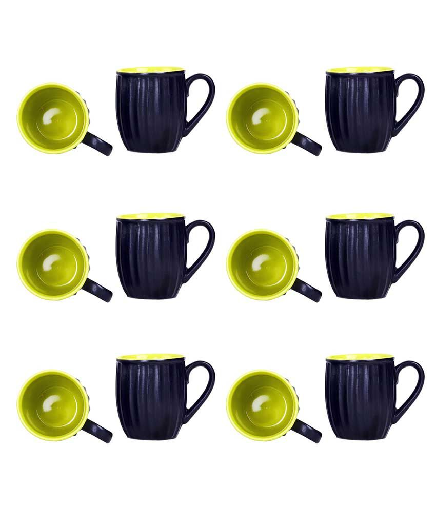 Caffeine Ceramic Coffee Cup 12 Pcs: Buy Online at Best Price in India - Snapdeal