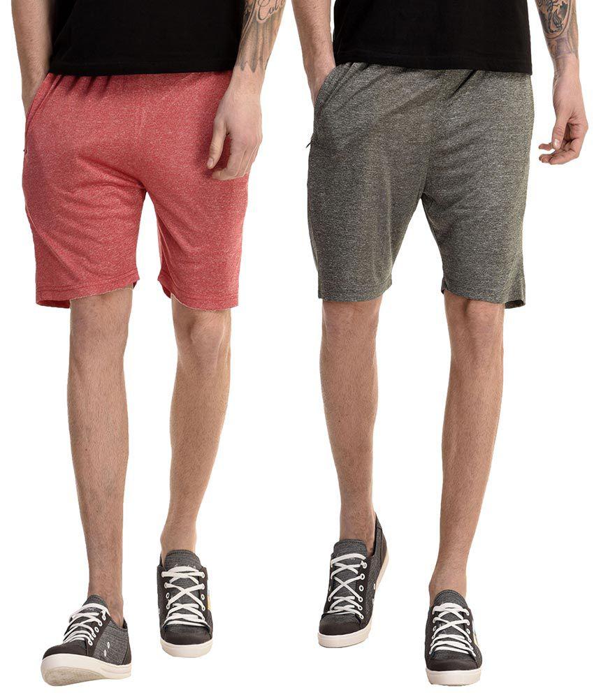 Gaushi Multi Shorts Pack of 2
