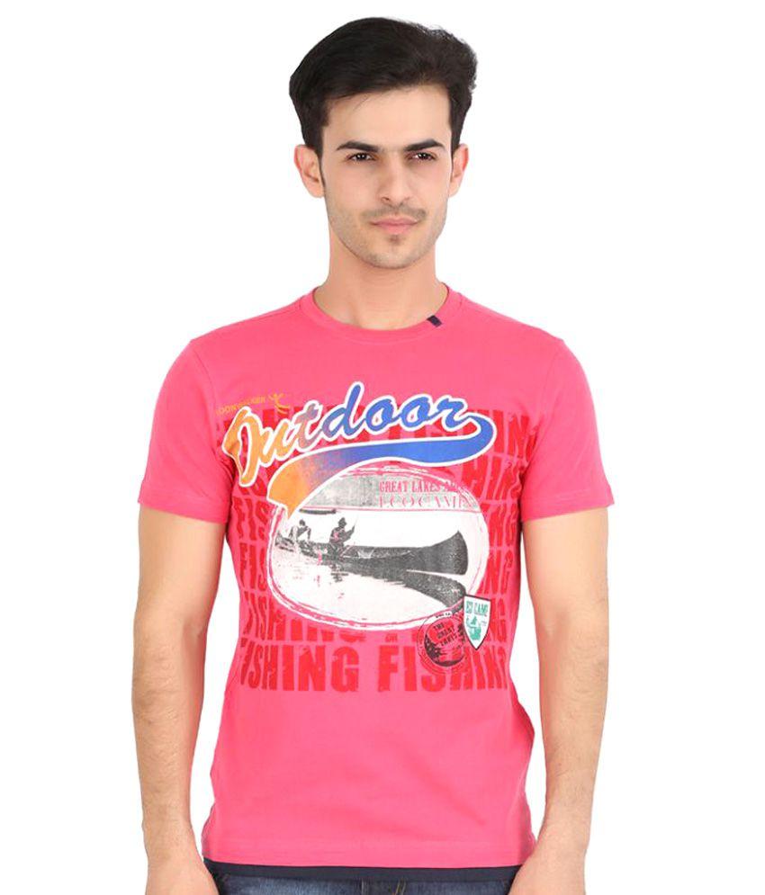 Moonwalker Pink Round T-Shirt