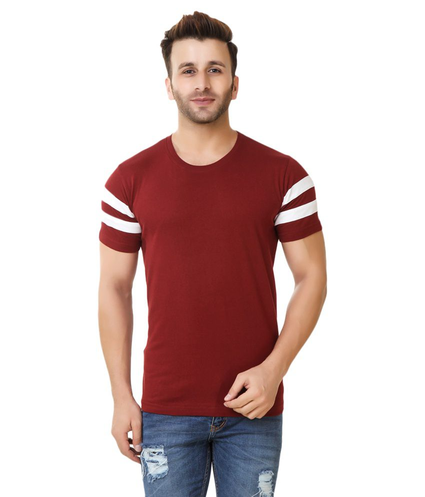 Fabstone Collection Maroon Round T-Shirt