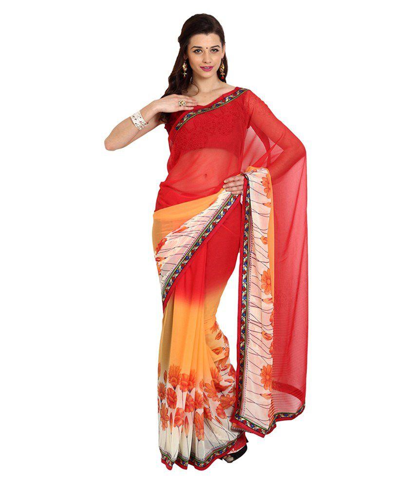 Parchayee Multicoloured Chiffon Saree