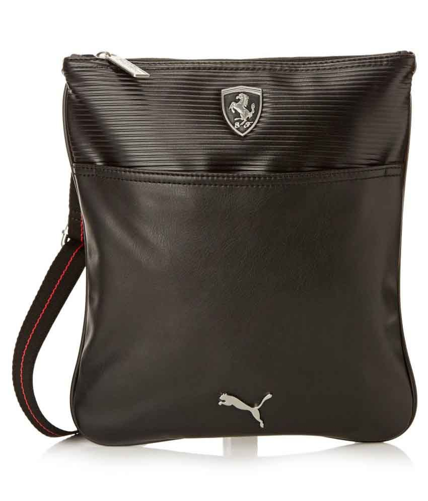 f776e3edc41 Puma Black Polyester Casual Messenger Bag - Buy Puma Black Polyester Casual Messenger  Bag Online at Low Price - Snapdeal