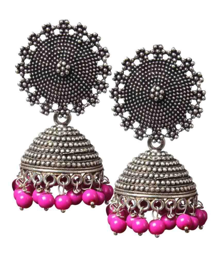 Sai Sri Retailers Silver Nickel Jhumki