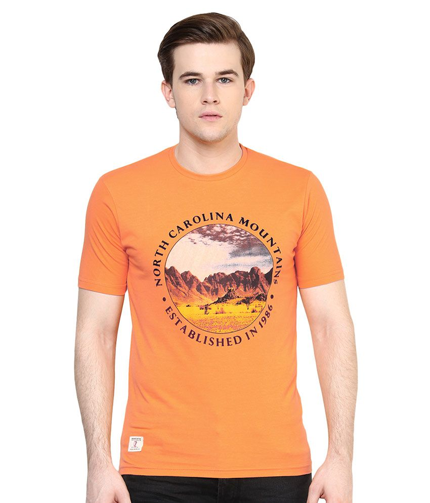 Ziera Orange Round T-Shirt