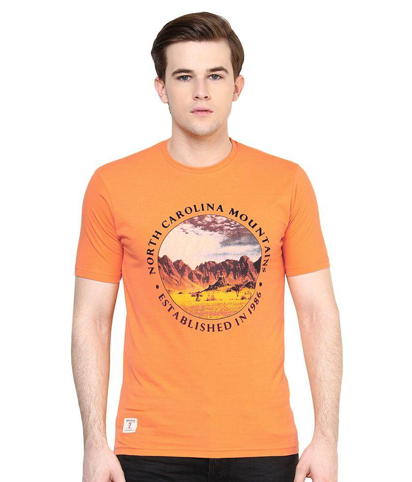 Ziera Orange Round T-Shirt