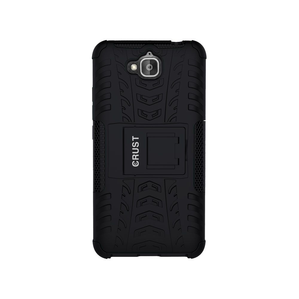 the latest 3aa6a db8dc Crust Impact Series Back Cover Case With Stand For Huawei Honor Holly 2  Plus - Black
