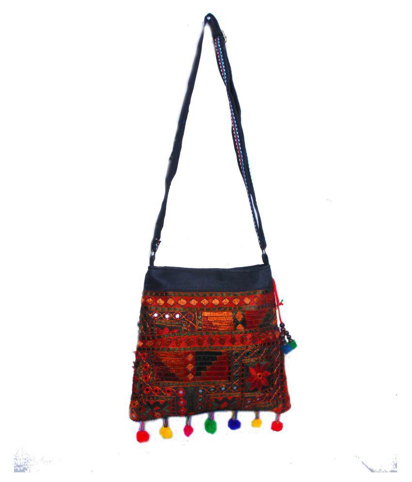 KDHS Multi Fabric Sling Bag