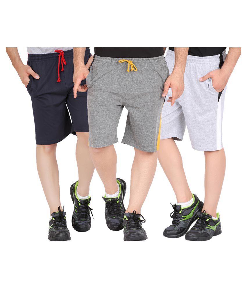 Checkersbay Multi Shorts Pack of 3