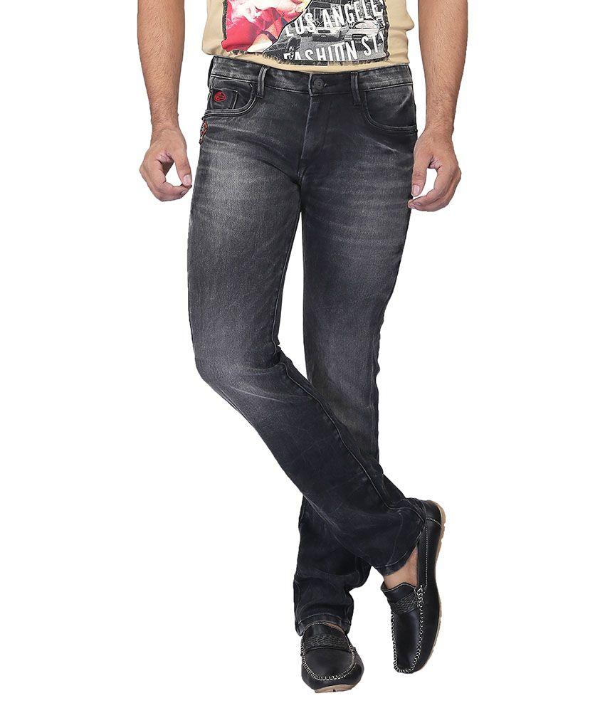 Nostrum Jeans Black Slim Washed
