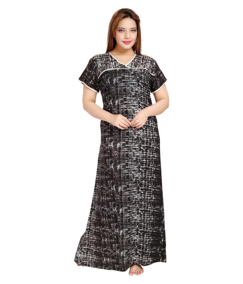 Piu Black Cotton Maternity