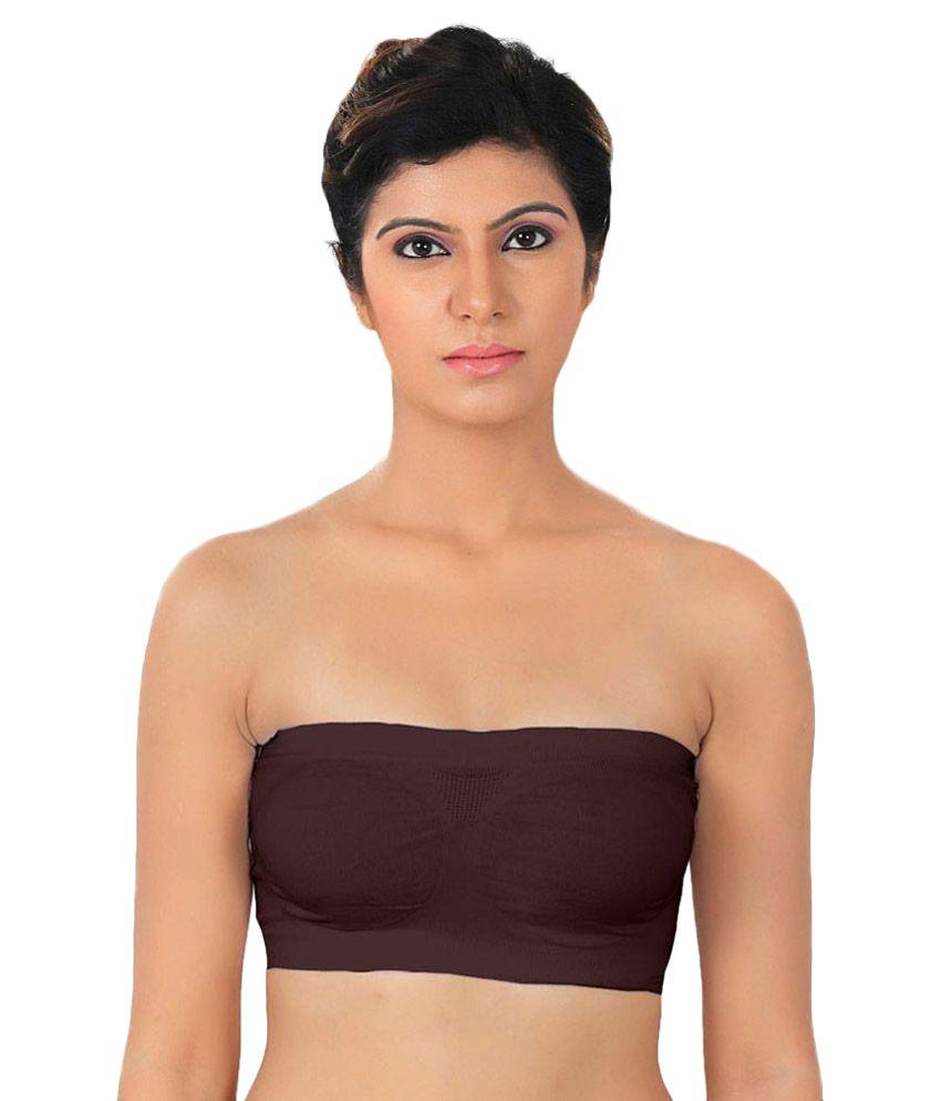 Dealseven Fashion Brown Lycra Bras