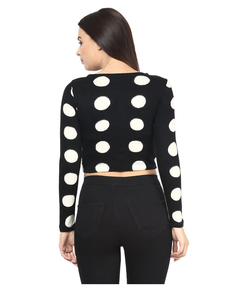 5609afce235 Martini Black Woollen Crop Tops - Buy Martini Black Woollen Crop ...